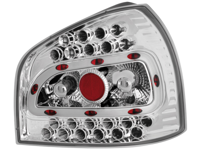 Audi A3 8L LED Tail Lights chrome 2