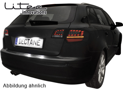 Audi A3 8P Sportback LED Tail Lights black