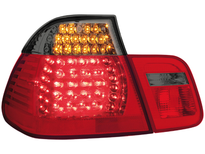 BMW E46 3series Sedan LED Tail Lights red/black 2