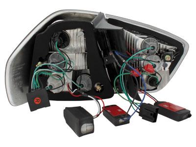 dectane bmw e90 3er led r ckleuchten set rauch audi tuning. Black Bedroom Furniture Sets. Home Design Ideas