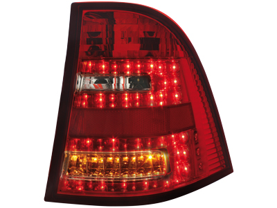 MB M-Class W163 LED Tail Lights red/clear