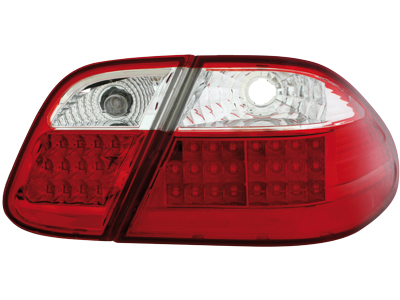 MB CLK W208 LED Tail Lights red/crystal