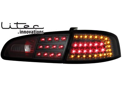 seat ibiza 6l led tail lights black ebay. Black Bedroom Furniture Sets. Home Design Ideas