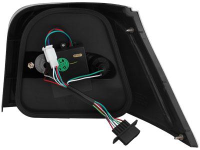 dectane vw golf 4 led r ckleuchten set schwarz audi tuning. Black Bedroom Furniture Sets. Home Design Ideas