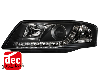 Audi A6 4B C5 DRL LED Headlights Dayline black 1