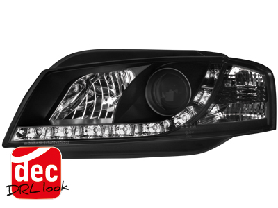 Audi A3 8P DRL LED Headlights Dayline black 2