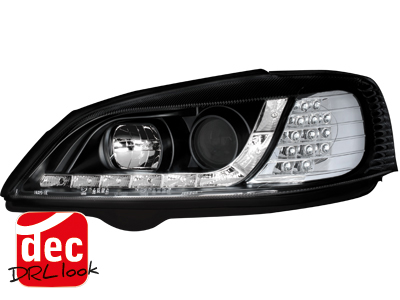 Opel Astra G DRL LED Headlights Dayline black 3