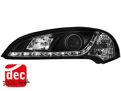 Opel Tigra A DRL LED Headlights Dayline black