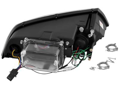 Skoda Octavia II 1Z DRL LED Headlights Dayline chrome