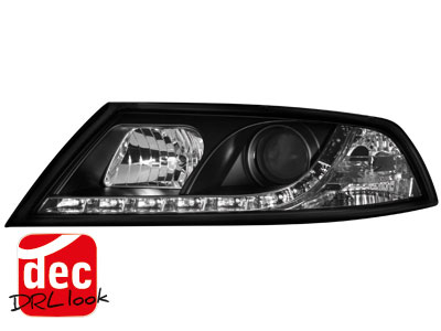 Skoda Octavia II 1Z DRL LED Headlights Dayline black 1