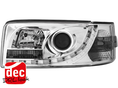 VW Bus T4 DRL LED Headlights Dayline chrome 2